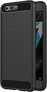 Case for Huawei Honor 9 / Honor9 Premium (5.15 inch) Soft Silicon Brushed with Texture Carbon Fiber Design Protection Cove...