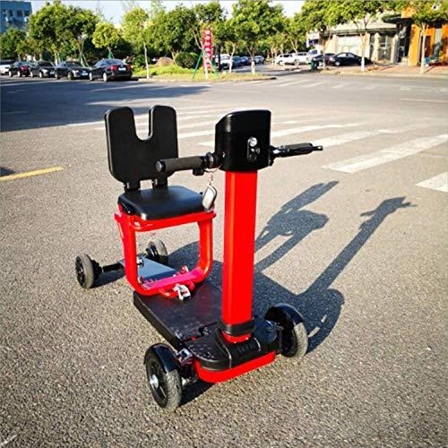 SZ-DDC Folding elektromobiliteit scooter 3 wielen scooter krachtige motor, rood