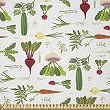ABAKUHAUS Gemüse Stoff als Meterware, Gurke mit Karotte,