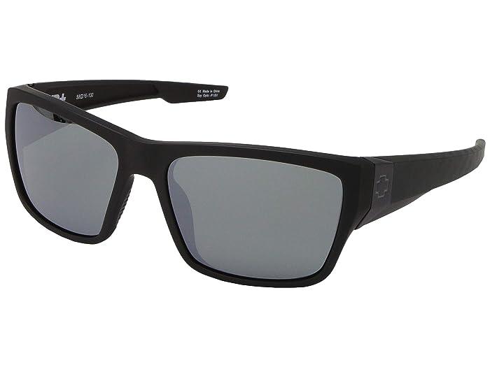 Spy Optic Dirty Mo 2 (Matte Black Logo/HD Plus Gray Green w/ Silver Spectra Mirror) Sport Sunglasses