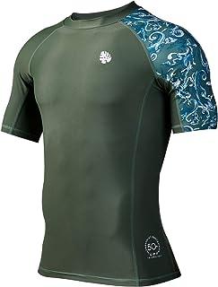 HUGE SPORTS Men's Splice UV Sun Protection UPF 50+ Skins Rash Guard Long Sleeves …