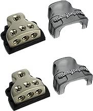 2) ROCKFORD FOSGATE RFD4 0/1/4-Gauge Ga Car Audio Distribution Blocks 1-In 3-Out