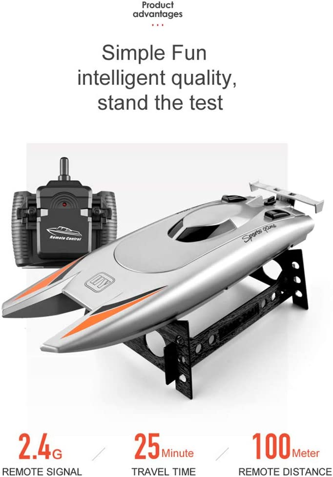 Leic Remote Control Boat 2.4G Dual Motor 30KM//H High-speed Racing Boat Rowing Toy Gift for Kids Adult