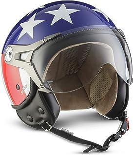 compris le sac de casque Star ECE certifi/és Noir M 57-58cm SOXON SP-301-STAR Black Casque Jet Chopper Cruiser Biker Pilot Vespa Moto Mofa Scooter Demi-Jet Retro Bobber Vintage Helmet