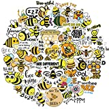 50pcs Inspirational Stickers for Hydroflasks, Reward Motivational Stickers for Teens, Students, Teachers and Employees, Waterproof Vinyl Positive Inspirational Stickers for Laptop(Bee Inspirational)