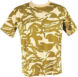 Mens Camo Military/Army T-shirt 100% Cotton (Large, Desert Camo)