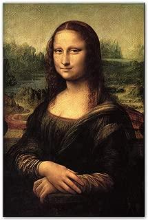 QianLei Smile of Mona Lisa Portrait Canvas Art Reproducciones de Pinturas Clásicas Da Vinci Famosas Impresiones artísticas para la Sala Cuadros Decor-50x75cm no Frame