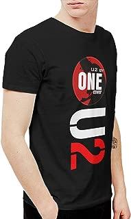 Rebecca-P Mens Funny U2 Band T Shirts and Washed Denim Hat Casquette 3XL Black