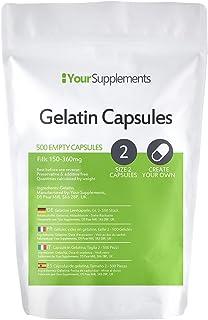 Lege gelatinecapsules   Maat 2 (500)