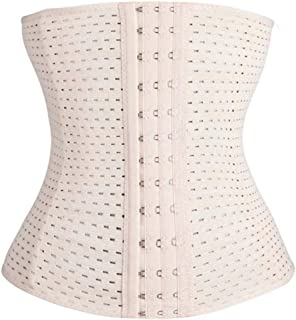WYAN Waist Trainer Hook and Eye Mesh Air Hole Women's Cincher Corset Weight Loss Short Body Shaper Latex Tummy Controller