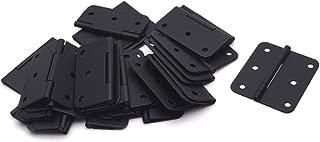 Antrader Flat Black Asymmetric Door Hinge Cabinet Gate Closet Hinge 1-1/2'' Long Home Furniture Hardware Folding Butt Hinge 24-Pack