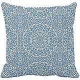 Funda de Almohada Bohemian Boho Syle Patrón Crochet Lace Motivos Redondos Crocheted es Square 45X45cm Funda de Almohada Funda de Almohada Decorativa para el hogar Funda de cojín Funda de Almohada