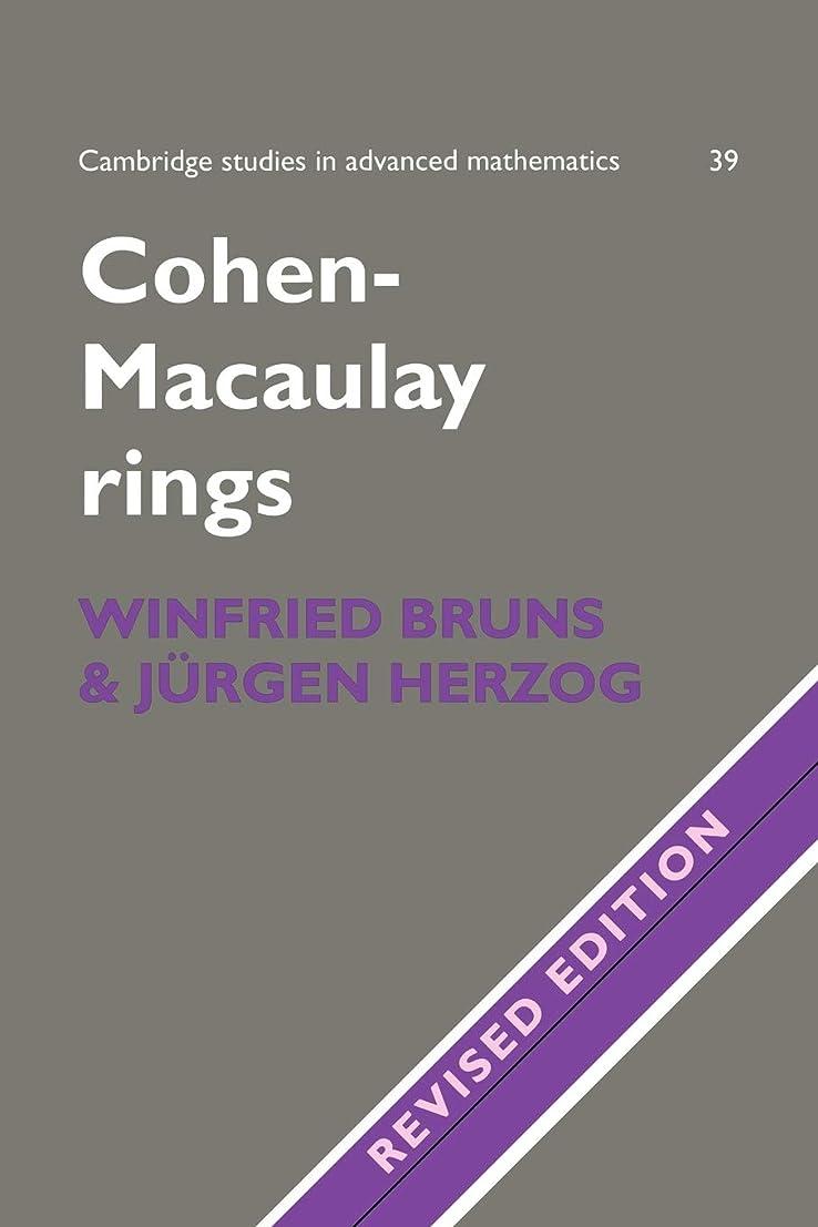 苦い浴室図書館Cohen-Macaulay Rings 2ed (Cambridge Studies in Advanced Mathematics)