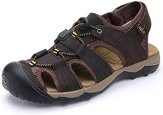 [LuckyDays-JP] メンズ サンダル カメサンダル 登山サンダル スポーツ アウトドア フラット コンフォート 大きいサイズ 夏用 軽量 紳士用 ベルクロ カジュアル 靴 リラックス 軽い 柔らかい つま先保護 ブラウン