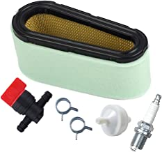 HIFROM 496894 Air Filter 272403S Pre Filter with 394358 Fuel Filter 494768 Fuel Shut Off Valve for Briggs & Stratton 282700 12.5-17 HP Engines