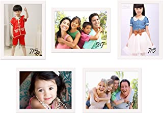 Art street and Art Street Wooden White Frame Photo Memory Wall