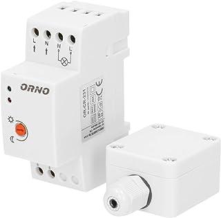 ORNO CR- 231 Schemerschakelaar Outdoor Voor DIN-Rail Met Externe Sonde - IP65 - Lichtsterkte LUX Instelbaar