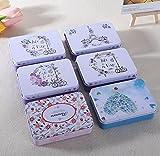 Ducomi LovelyBox - Juego de 3cajas de hojalata con tapa y diseño vintage...