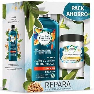 Herbal Essences Shampoo Riparatore All'olio di Argan + Maschera per Capelli Set da 2 Pezzi