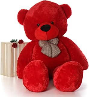 Hug 'n' Feel Soft Toys Extra Large Very Soft Lovable/Huggable Teddy Bear for Girlfriend/Birthday Gift/Boy/Girl RED 3 feet (91 cm)