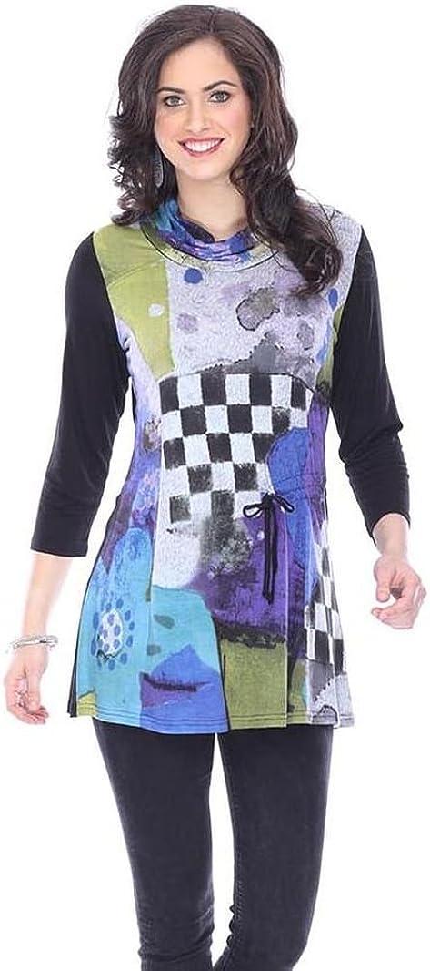 Parsley & Sage Women's Megan Roll Neck Tunic Top