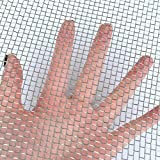 TIMESETL 304 Stainless Steel Woven Wire 5 Mesh - 12'X24' (30cmX60cm) - Metal Security Guard Garden Screen Cabinets Mesh