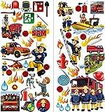 Walltastic Sam 3 Large Sheets Multi der Feuerwehrmann Wandaufkleber Polypropylene