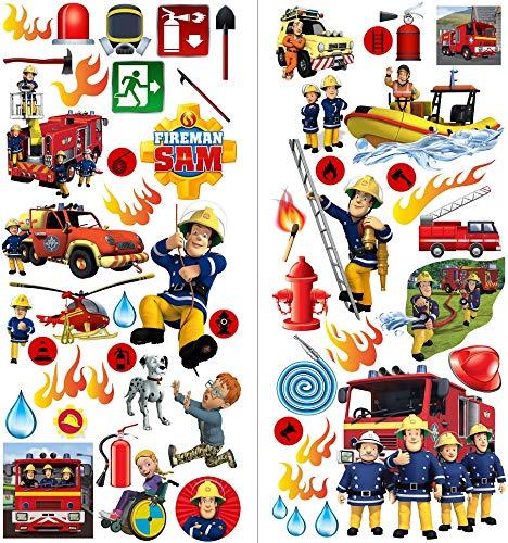 Feuerwehrmann Sam Aufkleber für Kinderzimmer, Dekoration