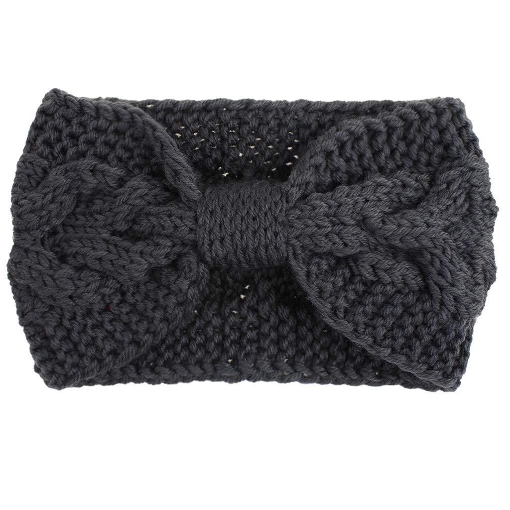 Women's Winter Warm Fuzzy Headband Knit,Soft Stretchy Head Wrap,Fashion Thermal Hand Wool Keep Warm Thick Fuzzy Head Wrap