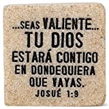 Lighthouse Christian Products Fortaleza (Strength) Spanish Scripture Block 2.25 x 2.25 Cast Stone Plaque