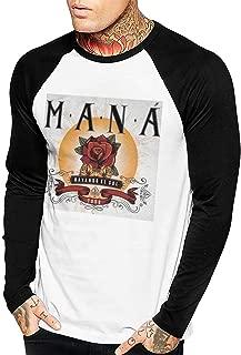 Mana Rayando El Sol Tour 2019 Men's Long Sleeve Baseball T-Shirts Black