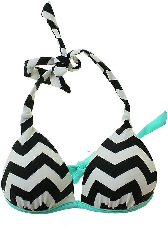 Milumia Women Basic Criss Cross Back Wireless Solid Bra Bikini Top Swimwear