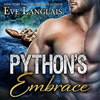 Python's Embrace     Bitten Point, Book 3              By:                                                                                                                                 Eve Langlais                               Narrated by:                                                                                                                                 Chandra Skyye                      Length: 5 hrs and 46 mins     187 ratings     Overall 4.5