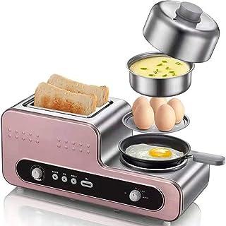 Tostadora Automática, Panificadora Automática 2 Rebanadas Tostadora Eléctrica Horno Huevos Caldera Vapor del Alimento Tortilla Filete