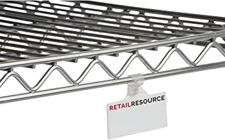 Label Holder for Wire Shelves Price Tag Holder 1 1/4 x 3 (H x L) Clear, Bag of 250