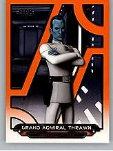 2018 Topps Star Wars Galactic Files (Update) Orange #REB-17 Grand Admiral Thrawn Rebels