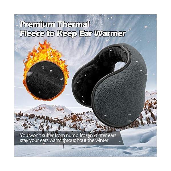 Lauzq Ear Warmers For Men & Women: Adjustable Headband Warm Ear Muffs: Super Soft Winter Earmuffs
