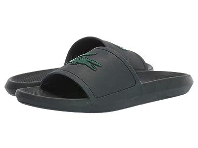 Lacoste Croco Slide 319 1 (Dark Green/Green) Men