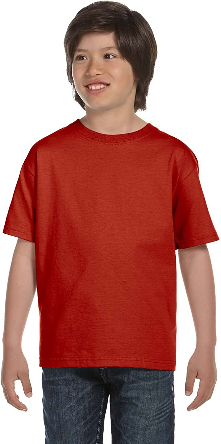 By Hanes Youth 61 Oz BEEFY-T - Deep Red - XL - (Style # 5380 - Original Label)