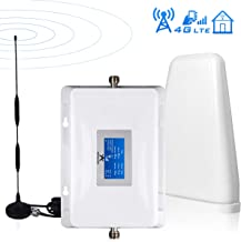 AT&T T-Mobile Cell Phone Signal Booster 4G LTE ATT Signal Booster 700Mhz Band12/17 Home Mobile Phone Signal Booster Amplifier Repeater Kits, No More Drop Calls, Cover 2000sq.ft
