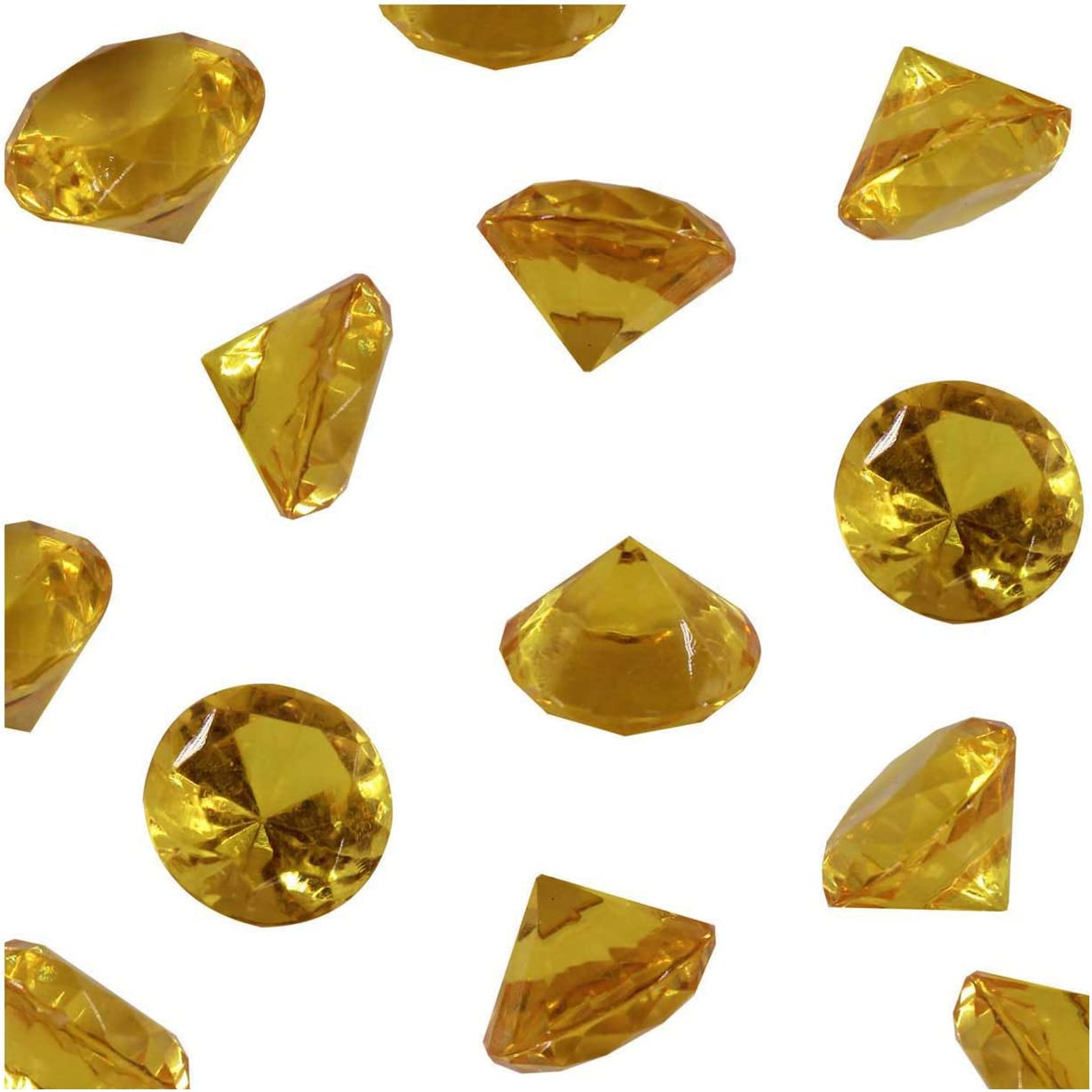 Gold Acrylic Diamond Vase Fillers 1 Pound - 240 pcs 3/4 Inch Wedding Party Event Banquet Birthday Decoration Crystals Gem Table Scatters (Gold, 240 pcs)