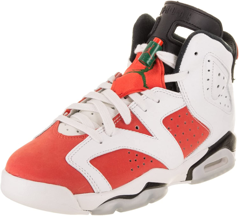 Nike Jordan ungar Jordan 6 Retro BG Summit vit vit vit  Team orange svart Basketball skor 6 Barn USA  upp till 50% rabatt