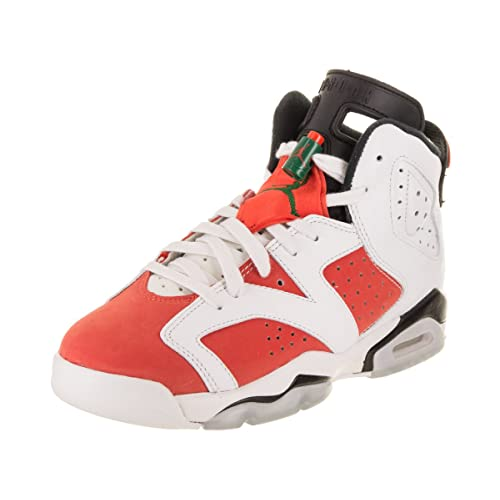 d64d2b353d83cb Jordan Air 6 Retro Big Kids  Basketball Shoes Summit White Team Orange-Black