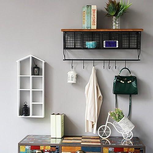 genuina alta calidad Biblioteca Sexy- Sexy- Sexy- Hierro Industrial Estilo Wall Hanging Shelf Parojo Dormitorio Retro Salón Decoración Estantería (Tamaño   84  34  21cm)  Hay más marcas de productos de alta calidad.