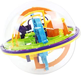 edog 迷路ボール 158関門 3D 立体パズル 立体ボール ゲーム おもちゃ 迷宮 子どもから大人まで 頭の体操 知育玩具
