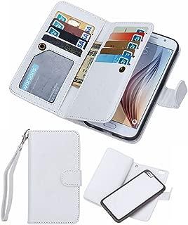 Black Deals Friday Cyber Deals Monday Sales-iPhone 8Plus iPhone 7Plus Wallet Case,Valentoria Leather Wallet Case Magnetic Detachable Slim Back Cover Card Holder Slot Wrist Strap(iPhone 7 Plus, White)