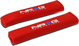 NRG Innovations SBP-27RD Seat Belt Pads Cover (Pack of 2)