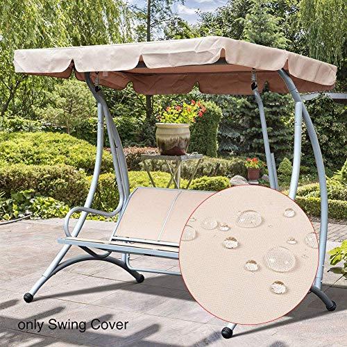 INGHU Sonnendach Ersatzdach Swing Top Cover, Stuhl Baldachin Hängematte mit Sonnencreme wasserdichte Oberfläche für Gartenterrasse Outdoor-Sitzer Swing Chair