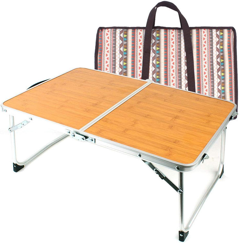 Boomder Faltbarer Faltbarer Faltbarer Laptop-Tisch, Frühstücks-Tablett, tragbarer Mini-Picknicktisch und ultraleichter Bambus-Holzmaserung Camping liefert B07QSJ3JG4  Clever und praktisch d79040