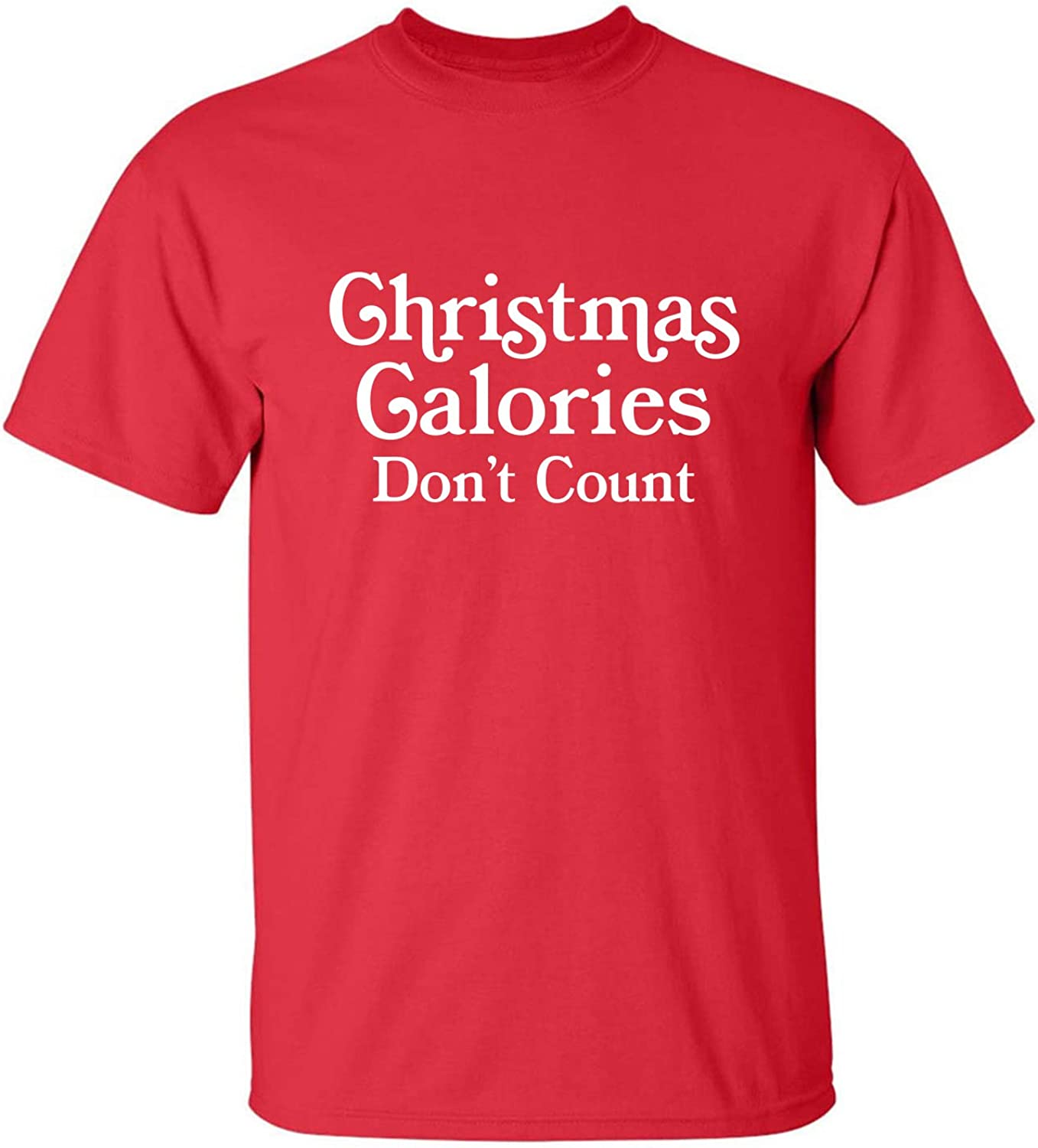 Christmas Calories Don't Count Adult T-Shirt in Red - XXXXX-Large